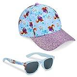 Disney Pack de Gorra Niña y Gafas de Sol Infantiles de Frozen, Gorra Infantil, Gafas de Sol Niña, Regalos para Niñas (Azul)