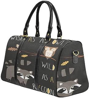 InterestPrint Carry-on Garment Bag Travel Bag Duffel Bag Weekend Bag Owl and Frog