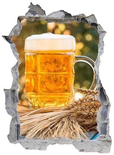 Bier Getränk Humpen Wandtattoo Wandsticker Wandaufkleber E0712 Größe 46 cm x 62 cm