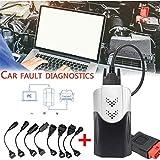 FANGX 2019 VD TCS Bluetooth CDP Pro DS150E pour Outil De Diagnostic De Dialogue Automatique OBD 2Pro Plus 2016 R0 / 2015 R3 Libre Keygen,pour Les Voitures Et Les Camions,Black