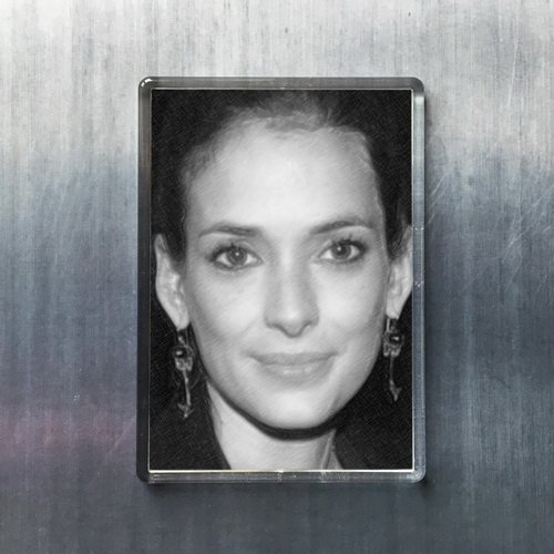 Seasons Winona Ryder - Original Art Fridge Magnet #js004
