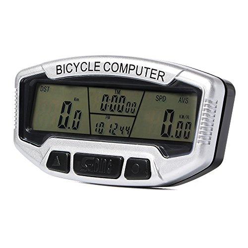 SUNDING Verdrahtetes SD-558A LCD wasserdichtes Multifunktions fahrrad Zyklus Geschwindigkeitsmesser Fahrrad Computer Entfernungsmesser wasserdichtes Blau CS272