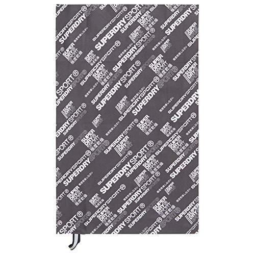 Superdry Sports Mikrofaser-Handtuch, Grau / Weiß