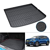 Mixsuper Cargo Liner for 2021 2020 Edge TPO All Weather Rear Durable Odorless 3D Upgrade Anti-Slip Trunk Floor Mat Custom Fit for Ford Edge 5 Seats Only 2015-2019