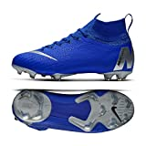 Nike Kids' Superfly 6 Elite FG Soccer Cleats (6Y US, Blue/White)