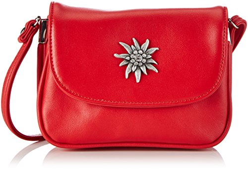 Preisvergleich Produktbild Lady Edelweiss Trachtentasche 30962 Damen Umhängetaschen 16x15x7 cm (B x H x T),  Rot (rot)