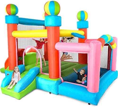Stoog Jumping Castle Inflatable Bounce House with Blower Kids Jumping Bouncer with Two Slides product image