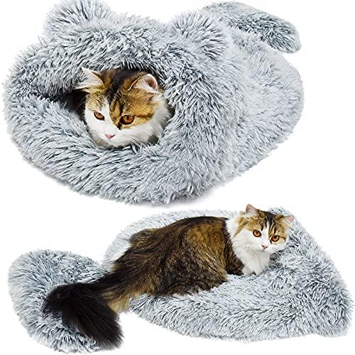 Ruitena - Cuccia per Gatto Cuccetta per Gatti Sacco a Pelo Cani Vello Morbido Caldo Lavabile Letti di Gatto Sacco di Coccole Coperta Stuoia per Gattino Cagnolino(65*65CM)