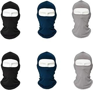 6 STÜCKE Ultradünne Sommer Sturmhaube Sun Dust Gesichtsmaske, Winter Winddicht Vollgesichtsmaske, Atmungsaktive Halsabdeckung für Radfahren Motorrad Ski