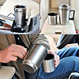 12V In-Car Coffee Maker Tea Pot Thermos Bottle Stainless Steel Heating Cup 300ml