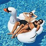 Flotador de Piscina de Cisne Blanco Lujoso Inflable Gigante Diversión Beach Floaties Swim Party Toys Summer Pool Raft Lounge para Adultos Niños