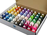 Simthread 63 Brother Colours Polyester Machine Embroidery Thread 40 weight for Babylock Janome