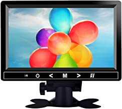 7 Pulgadas Portátil Seguridad Monitor, 1024 * 600 Pantalla LED IPS Entrada de AV/VGA/HDMI con Remote Control para Seguridad Cámara,PC,CCTV,VCD,DVD