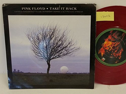 PINK FLOYD take it back, PICTURE SLEEVE, 7 inch single, maroon vinyl, EM 309