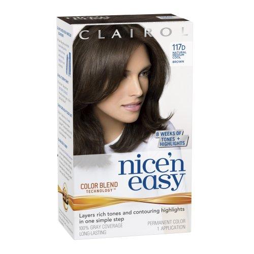 Clairol Nice'n Easy Permanent Hair Color, 5C Medium Cool Brown, 3 Count