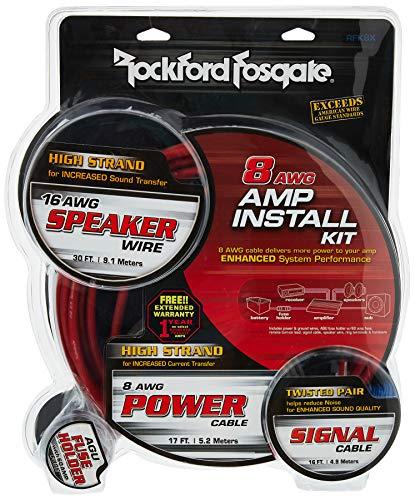 Rockford Fosgate Amplificador Completo Kit de instalación