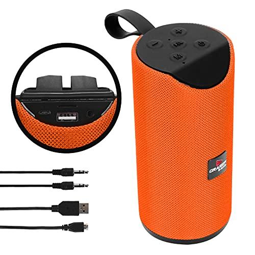 Caixa de Som Bluetooth Portátil USB, Micro SD, FM, Com Alça - D-G113 - Grasep