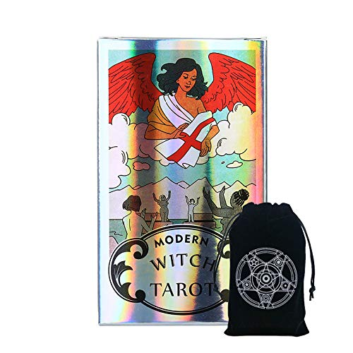 STFUSA Modern Witch Tarot Deck Party Game Y Tarot Special Beam Pocket Party Juego De Póquer Entretenimiento