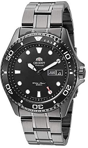 Orient, Ray Raven II, orologio da uomo, movimento giapponese automatico, in acciaio inox, da immersione, colore nero, stile casual, modello FA02003B9