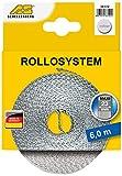 Schellenberg 36102 Cinta de persiana ancho, color gris, Maxi 23 mm/6 m