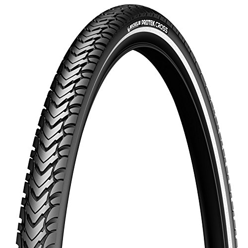 Michelin - Cubierta Protek Cross-Flanco Reflectante para bicicletas, 700x35C