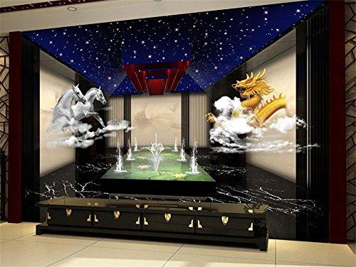 Lwcx 3D Wallpaper Custom Photo Wallpaper Drachen und Pferde Wandbild Fernseher Sofa Schlafzimmer Ktv Hotel Wohnzimmer Kinderzimmer 350 X 245 CM