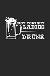 Not tonight drunk ladies: 6x9 Men | grid | squared paper | notebook | notes