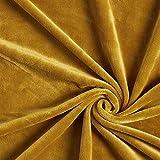 Fabulous Fabrics Samt senf, Uni, 150cm breit – Samt zum