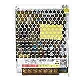 Uxsiya Potencia Suficiente 120W 24V 5A Fuente de alimentación conmutada Carcasa de Aluminio galvanizado Adaptador de Controlador de Desgaste para Carteles publicitarios