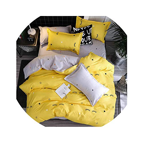 Clayton M Bracewell Fashion Bedding Sets Bed Linen Simple Style Duvet Cover Flat Sheet Bedding Set Winter Full King Single Queen Bed Set,C15,Full Cover 150By200,Flat Bed Sheet