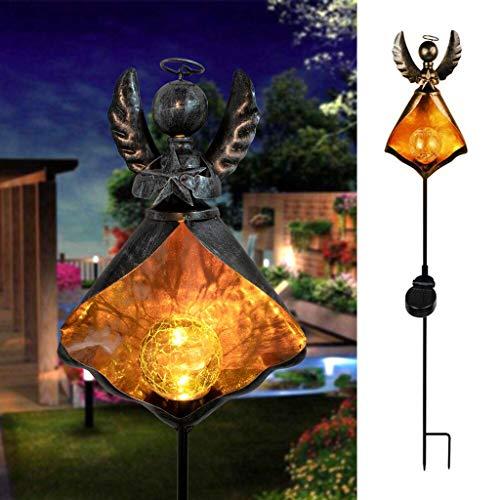 QHJ Solarleuchten Garten, SolarLichter Wasserdicht tanzen Flamme Outdoor Beleuchtung Landschaftsdekoration (B)