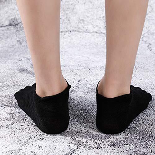 BOLANA Orthopedic Compression Socks Men's Toe Socks Ultra Low Cut Liner with Gel Tab Breathable