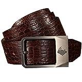 Mens Belt Genuine Leather Bulliant Belt Classic Fashion Single Buckle Casual Jeans Dress Belts