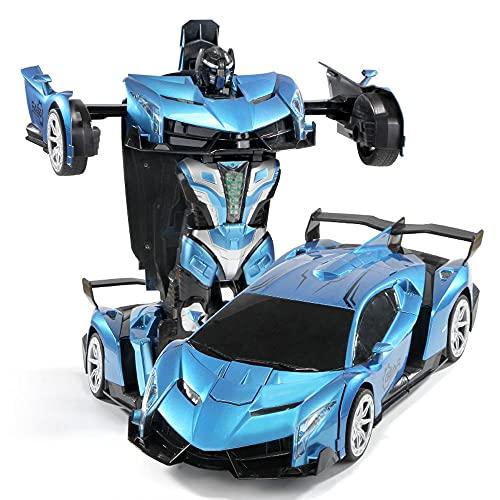 DFERGX Carga Drift Car Deformación Robot Coche Eléctrico para Niños Coche De Juguete Anticolisión Y Anticaída Vehículo Todo Terreno para Escalar Coche De Control Remoto con Faros