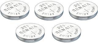 RENATA Lot de 5 Blisters de 1 Pile bouton oxyde argent X321 SR616SW