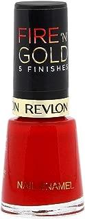 Revlon Womens Fire 'N' Gold 5 Finishes Nail Enamel, Red Shine, 8 ml