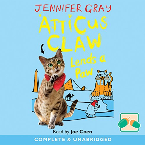 Atticus Claw Lends a Paw audiobook cover art