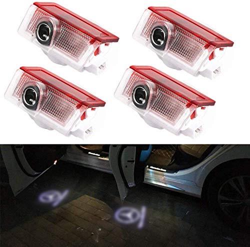 Autotür Logo Licht, Queta 4 Pack Led Auto Projektor Logo Ghost Shadow licht türbeleuchtung Willkommen Lampe für GLC GLE GLS GLA A B E Class W212 W166 W176 W205 W246 X164