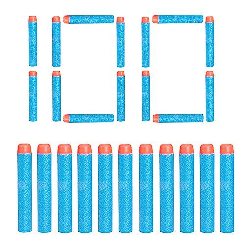 VCOSTORE Dardos Espuma 7,2 cm Recarga de Dardos Soft EVA Foam Bullet Munición Pack para Nerf N-Strike Elite Series Blasters Pistola de Juguete para niños 4 Colores 100200 400 Piezas