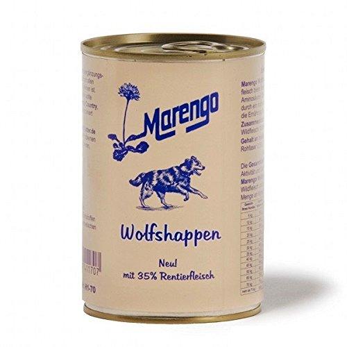 Marengo Wolfshappen Ergänzungsfutter für Hunde Wild & Rentier 6x 400g