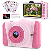 Coolwill Kids Camera for 3-12 Year Old Girls & Boys, 12 MP 1080P FHD Video Camera for Kids with 8X Digital Zoom & 3.5 inch Large Screen Popular Children's Birthday Gifts,with 32G TF Card