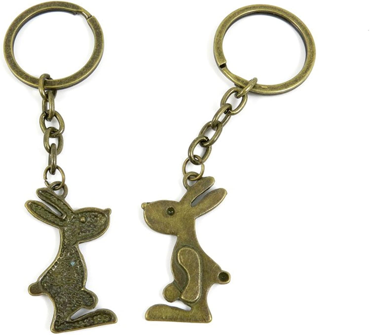 80 PCS Keyring Car Door Key Ring Tag Chain Keychain Wholesale Suppliers Charms Handmade H3NT8 Rabbit Playboy