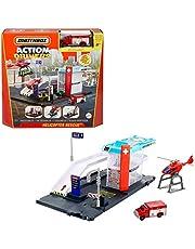 Matchbox Hospital y helicóptero de rescate Casa y vehículo de juguete (Mattel GVY83)