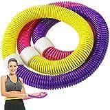 Hoop Fitness, ZoneYan Aro de Fitness, Aro de Fitness para Masaje, Aro de Fitness para Adultos, Círculo de Fitness Pilates, Soft Spring Hoop Con Regla Suave, Cintura Delgada