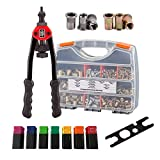 TR TOOLROCK 900pcs Rivet Nut Assortment Kit and 13' Rivet Nut Gun Kit, Steel Nut and Stainless Steel Nut, Metric M3 M4 M5 M6 M8 M10 M12 Rivet Nut Set, Rivet Nut Tool with Rugged Carrying Case