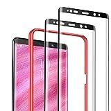 DEKOLY Vetro Temperato per Samsung Galaxy Note 8 [2 Pezzi], 3D Copertura Completa Pellicola Protettiva in Protezione Schermo con Kit di Installation - Nero