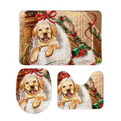 Yilooom Sneeuwman Niet Slip Badkamer Mat Sets 3 Stuk Thuis Deurmat Kerst Vakantie Decor 18 X 30 Inch 20 X 32 Inch Stijl#13