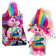 """She dances and sings the """"Trolls Just Wanna Have Fun""""! Over 44 cm tall! Dressed in a groovy outfit! Ages 3+"""