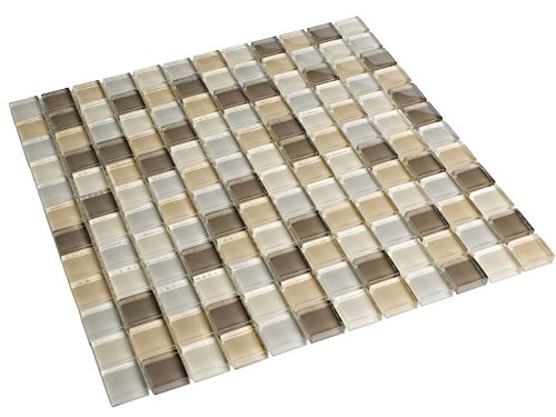 Glasmosaik Sand Mix 2,3 x 2,3 cm Fliesen Mosaik 8 mm