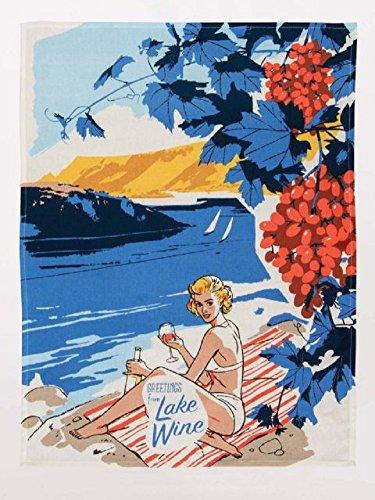 by Blue Q Blue Q Grüße aus Lake Wein Neuheit Geschirrtuch